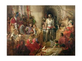 The Trial of Sir William Wallace at Westminster Giclée-Druck von William Bell Scott