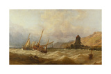 Oxwich Bay, South Wales, 1851 Giclee Print by George Clarkson Stanfield