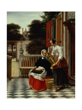 A Mistress and Her Maid, 1660s Giclee Print by Pieter de Hooch