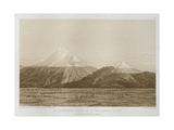 T.1593 Mt. Chimborazo and Mt. Carguairazo, Drawn by Hildebrandt after a Sketch by Humboldt,… Giclee Print by Friedrich Alexander, Baron Von Humboldt