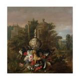 Dead Game and Flowers, 1708 Giclee Print by Pieter Casteels