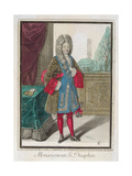 Louis De France (1661-1711) Monseigneur Le Dauphin Giclee Print by Robert Bonnart