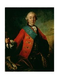 Portrait of Petr Fedorovich (1728-62) 1758 Giclee Print by Fedor Stepanovich Rokotov