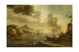 The Gulf of Salerno, C.1640-45 Giclée-tryk af Salvator Rosa