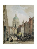 St. Paul's from Fleet Street Giclee Print by Louis Jules Arnout