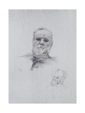 Portrait of Victor Hugo (1802-85) Giclee Print by Auguste Rodin