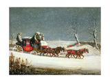 The Royal Mail in Deep Snow Giclee Print by Samuel Henry Alken