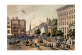 Broadway, New York, Engraved by Deroy, Pub. by Goupil and Co. Giclee Print by Augustus Kollner