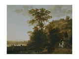 An Evening Ride Near a River Giclee Print by Aelbert Cuyp