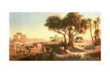 Egyptian Ruins Giclee Print by Johann Jakob Frey
