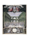 Set Design for an Unidentified Ballet in a Garden, Taken from a Collection Entitled 'Menus… Giclee Print