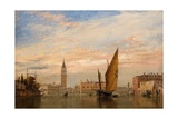 On the Grand Canal in Venice, 1851 Giclee Print by Edward William Cooke