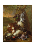 A Dog Guarding Game Giclee Print by Alexandre-Francois Desportes