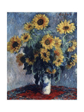 Still Life with Sunflowers, 1880 Giclee Print by Claude Monet
