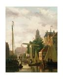 A Canal in Amsterdam Giclee Print by John Frederick Hulk