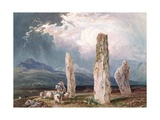 Circle of Stones at Tormore, Isle of Arran, 1828 Giclee Print by William Andrews Nesfield