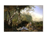 Landscape with Sportsmen and Game, C.1665 Giclee Print by Adam Pynacker