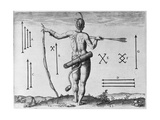 Indian Markings, Engraved by Theodor De Bry (1528-1598) Giclee Print by John White