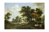 Wooded Landscape with the Ruins of a House, C.1663-64 Lámina giclée por Meindert Hobbema