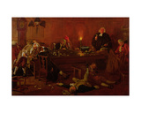 The Reverend Geoffrey Shovel, Chaplain of the Fleet, with His Drinking Companions Giclee Print by Thomas Davidson