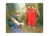 Angels Entertaining the Holy Child, 1893 Giclee Print by Marianne Stokes