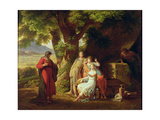 Moses and the Daughters of Jethro Giclee Print by Sir Charles Lock Eastlake