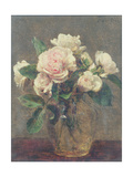 White Roses in a Glass Vase, 1875 Giclee Print by Ignace Henri Jean Fantin-Latour
