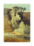 On the River Greta, Yorkshire Giclee Print by John Sell Cotman