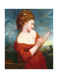 Portrait of Elizabeth Johnson, C.1780 Giclee-trykk av Sir Joshua Reynolds