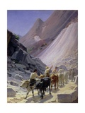 Transporting Marble at Carrara, 1868 Giclee Print by Nikolai Nikolaevich Ge