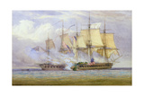 The Moment of Victory Between Hms 'shannon' and the American Ship 'Chesapeake' on 1st June 1813,… Giclee Print by John Christian Schetky
