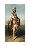 Duleep Singh, Maharajah of Lahore (1838-93), 1854 Lithographed by R.J. Lane Giclee Print by Franz Xaver Winterhalter