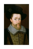 Portrait of James VI of Scotland and I of England (1566-1625) Giclee Print by John De Critz