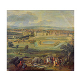View of the Palace of Fontainebleau from the Parterre of the Tiber, 1722 Giclee Print by Pierre-Denis Martin