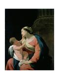 Madonna and Child, 17th Century Giclée-Druck von Simon Vouet