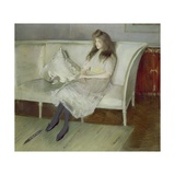 Symphony in White - Portrait of Yvonne Paulmier Giclee Print by Paul Cesar Helleu
