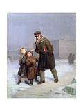Beggar Children Giclee Print by Firs Sergeevich Zhuravlev