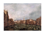 A Regatta on the Grand Canal, Venice Giclee Print by Francesco Guardi