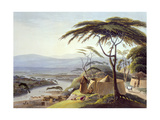 The Town of Leetakoo, Plate 22 from 'African Scenery and Animals', Engraved by the Artist, 1805 Giclee Print by Samuel Daniell