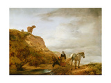Landscape with a Grey Horse and Figures by the Wayside, C.1644-46 Giclee Print by Philips Wouwermans Or Wouwerman