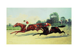 The Winning Post in Sight Giclee Print by Henry Stull