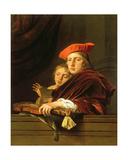 Two Musicians Giclee Print by Cesar Boetius van Everdingen