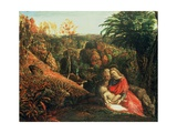 The Rest on the Flight into Egypt, 19th Century Giclee Print by Samuel Palmer