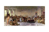 An Egyptian Feast, 1877 Giclee Print by Edwin Longsden Long