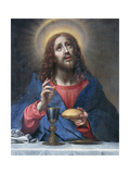 Christ Blessing Bread Giclée-tryk af Carlo Dolci