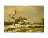 Snowy Landscape Giclee Print by John Cranch