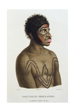 T.1550 Y-Erran-Gou-La-Ga, a Native of New Holland, Plate 19 from 'Voyage of Discovery to… Giclee Print by N. Petit