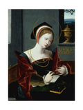 Portrait of a Lady Writing Giclee Print by  Master of the Female Half Lengths