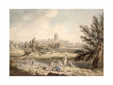 Magdalen College, Oxford, View from Cherwell Looking North West, 1791-92 Giclee Print by Edward Dayes