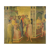 St. Eligius before King Clothar, C.1365 Giclee Print by Taddeo Gaddi